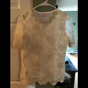Unknown name lace blouse